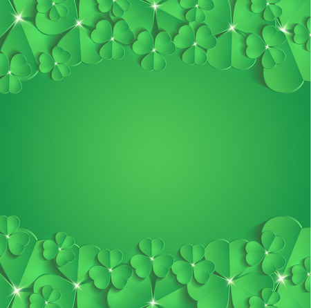St.Patricks Day greeting card congratulation raster Stock Photo
