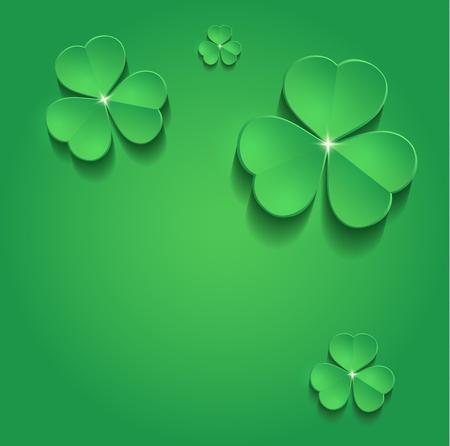 irish background: St.Patricks Day shamrock text greeting card raster Stock Photo