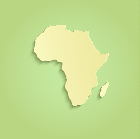 plastic backdrop: Africa map green yellow raster