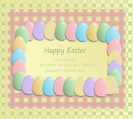 Easter egg colors flowers happy easter shamrock texture greeting gift card pink vector yellow negle Choice Image