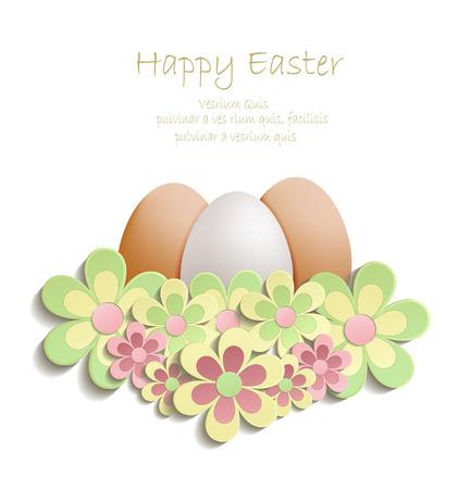 Easter Egg flowers vector