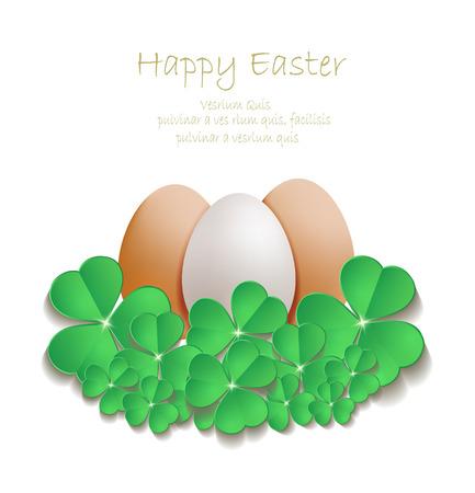 Easter egg shamrock vector