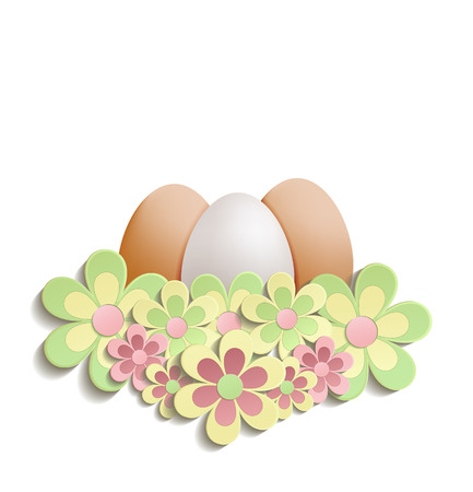 Easter Egg flowers raster