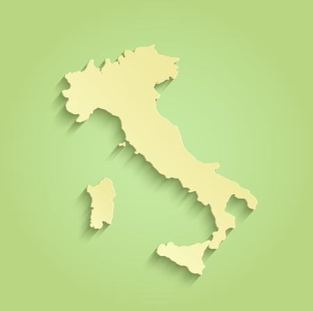 Italy map green yellow raster