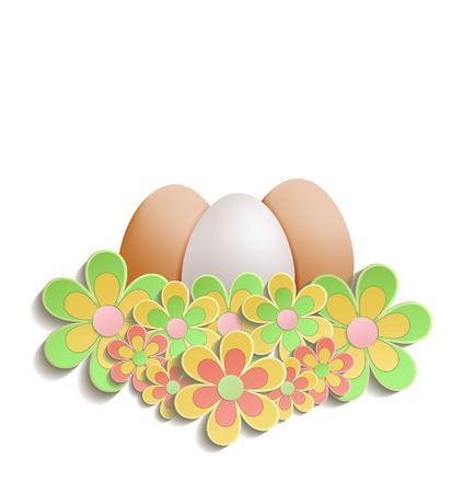 Easter Egg flowers colors raster