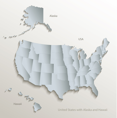 Hawaii Vector Map Stock Illustrations Cliparts And Royalty - Us alaska hawaii vector map