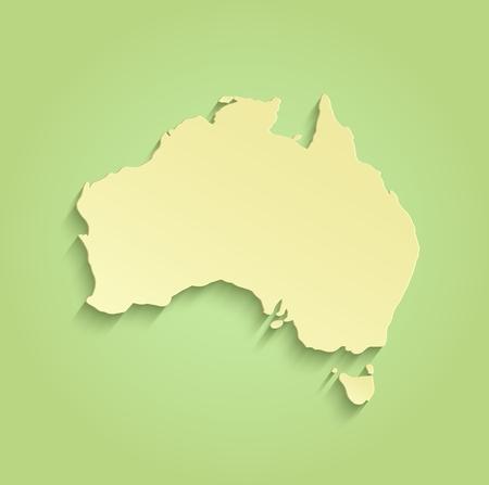 tanzania: Australia map green yellow raster