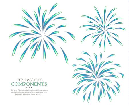 Fireworks isolated white background raster