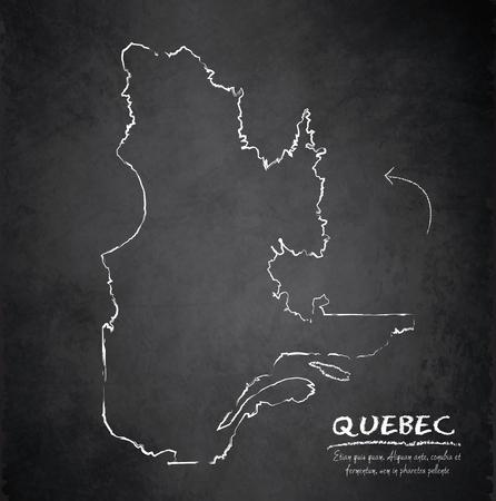 Quebec map blackboard chalkboard vector