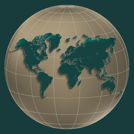 World map earth gold globe petroleum color background raster