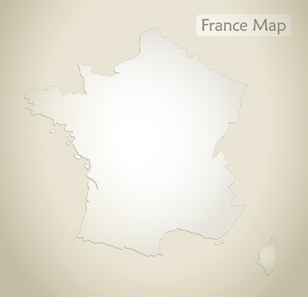 France map old paper background vector