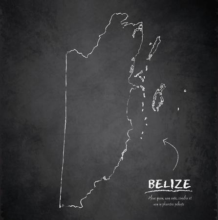 Belize map blackboard chalkboard vector