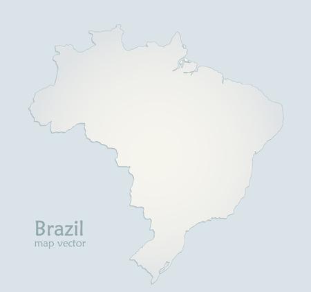 Brazil map blue white paper 3D vector Foto de archivo - 119040468