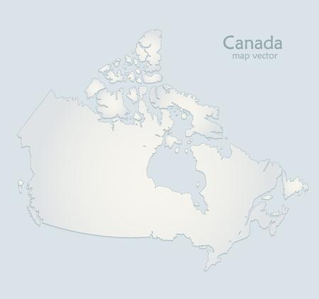 Canada map blue white paper 3D vector Foto de archivo - 119040469