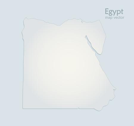 Egypt map blue white paper 3D vector Foto de archivo - 119040479