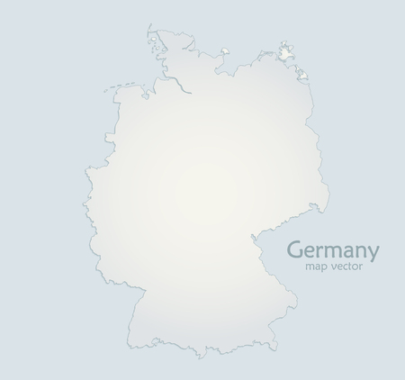 Germany map blue white paper 3D vector Foto de archivo - 119040481