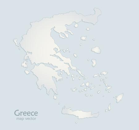 Greece map lather blue white paper 3D vector Foto de archivo - 119040483