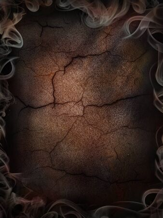 Background dark cracked and smoked poster vertical