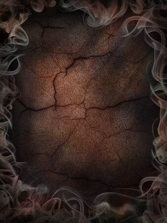 background dark cracked and smoked poster Imagens