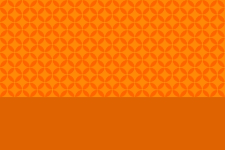 Bright Orange Circle Background Title Page