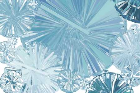 Abstract Ice Snowflake photo