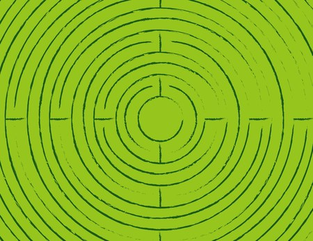 Green Tribal Circle Background