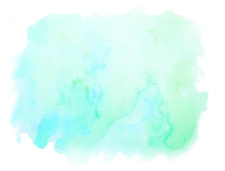 Fondo vibrante de la acuarela del verde azul de la textura