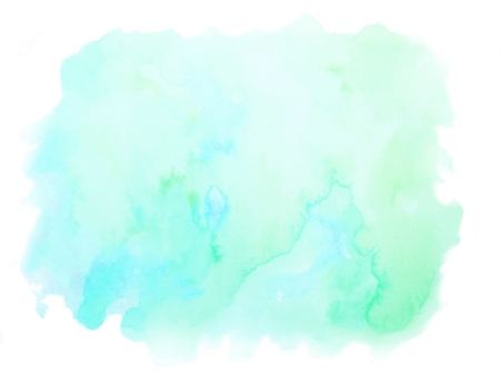 Vibrant Blue Green Watercolor Texture Background 免版税图像