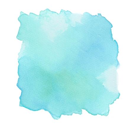 Niebieski Morskozielony Akwarela Background Texture