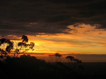 Sunset Over Adelaide,Australia Stock Photo - 7819447