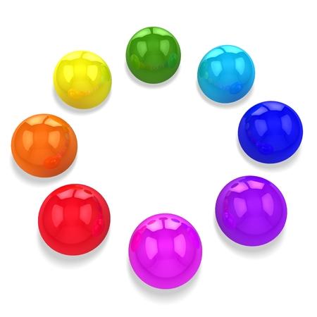 3d abstract balls