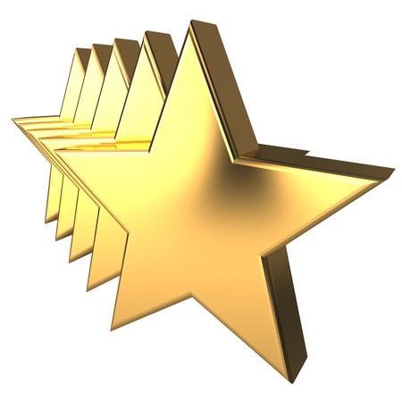 3d golden stars