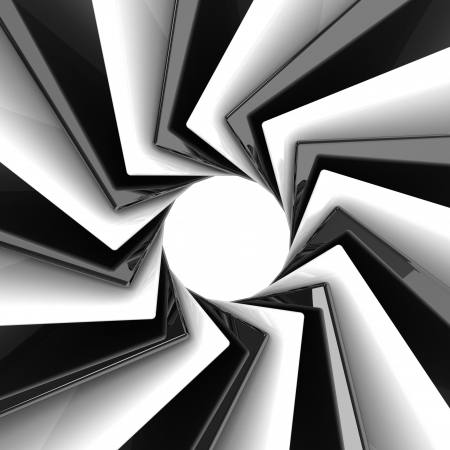 3d abstract black and white background Stock Photo