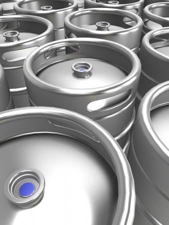 3d beer keg Stock Photo