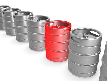 keg: 3d metal beer keg. Concept