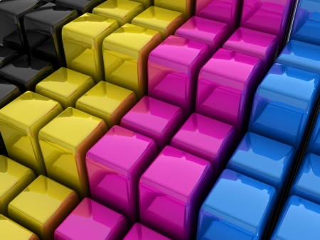 3d abstract cmyk background