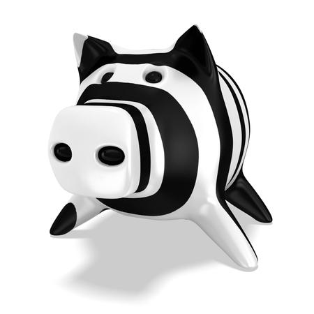 3d piggy bank zebra textures
