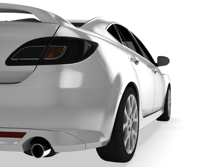 Sport car isolated on white Stock Photo