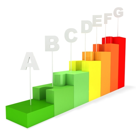 Energy saving concept from puzzles Stock Photo