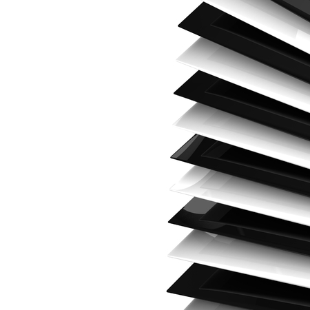 3d abstract black and white background photo