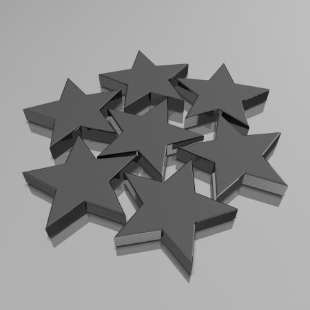 3d black stars background