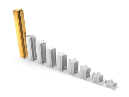 3d business graph from stars Stock Photo