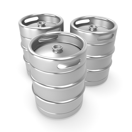 3d metal beer keg photo