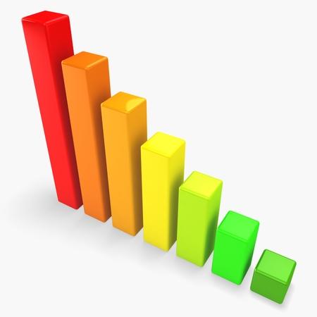 3d energy saving graph concept Stock Photo