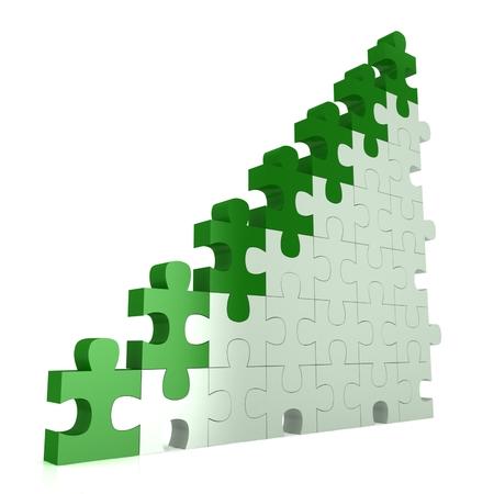 3d puzzle success financial bar chart graph photo