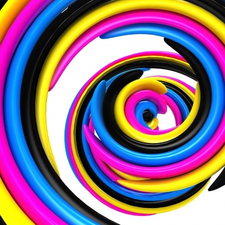 3d abstract cmyk background photo