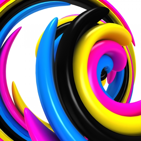 ooze: 3d abstract cmyk background