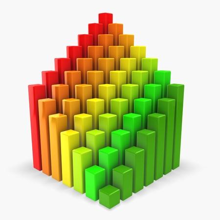 3d abstract graph. Energy saving concept Stock Photo