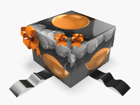 3d gift box with abstract texture
