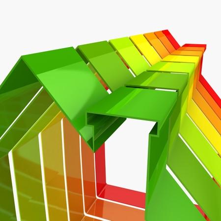 3d houses. energy saving concept